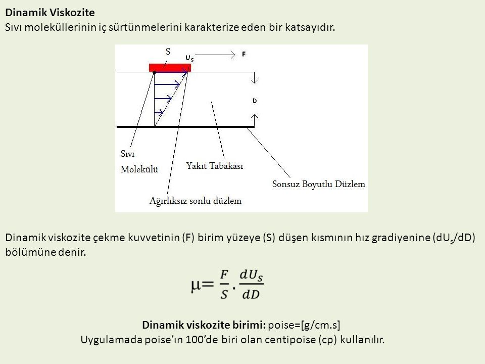 Dinamik viskozite birimi: poise=[g/cm.s]
